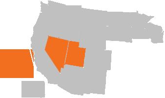 Alaska, Nevada, Utah